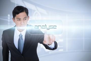 Analyse against futuristic technology interface