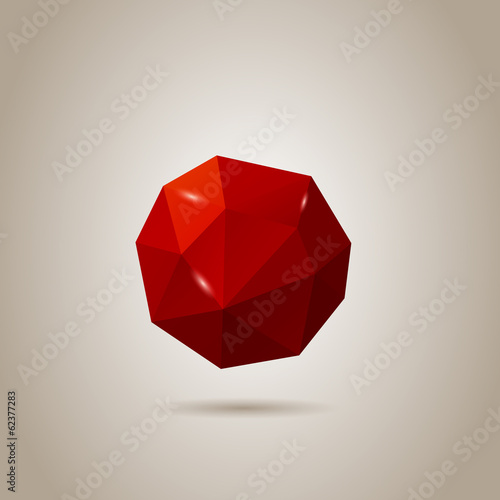 Low-poly Abstract Sphere