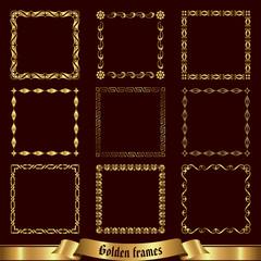 Golden frames set 1