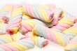 Colorful twist marshmallow