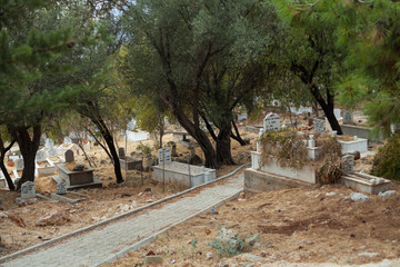 Muslim cemetery in Kas, Turkey