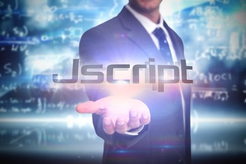 Jscript against math equation background