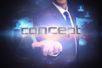 Concept against futuristic technology interface