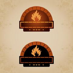 Firewood oven set 2