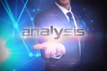 Analysis against futuristic black background
