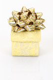 yellow gift box on white