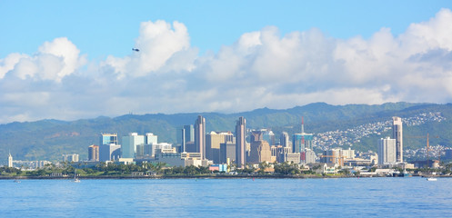 Honolulu skyline, Hawaii