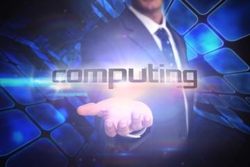 Computing against room of shiny blue squares