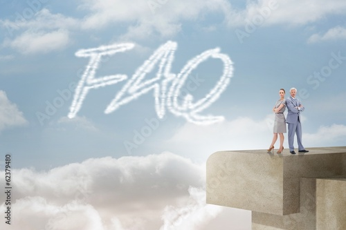 Faq against balcony and bright sky