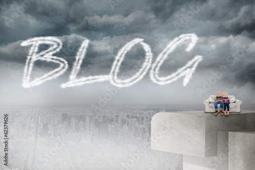 Blog against balcony overlooking city