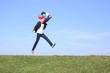 geschäftsmann mit luftballons