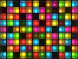 Wall of disco lights