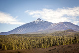 Beautiful scenic view of mount Teide national park in Tenerife,