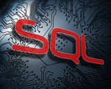 Sql against illustration of circuit board