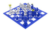 Euro dollar chess game blue-white