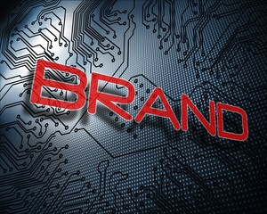 Brand against illustration of circuit board