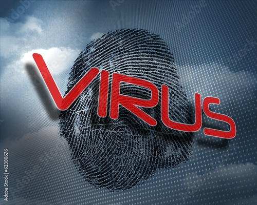 Virus against fingerprint in sky