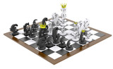 Euro dollar chess game black-white isometry