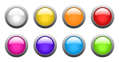 vector color glass buttons