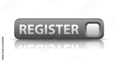 vector 3D gray web button register