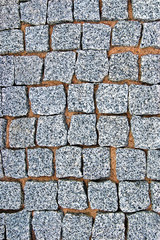 Granite Cobblestone Pavement Texture Background, Large Detailed