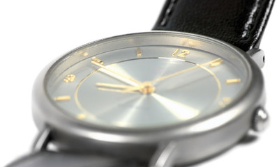 wiss made watch face, titanium case, flat sapphire glass, gold