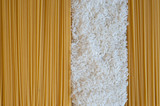 rice and spaghetti background textures