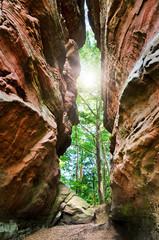 Wanderweg Felsenpfad Felsen im Dahner Felsenland