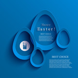 Fototapety Vector modern easter egg background. Eps 10