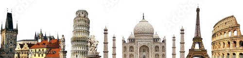 travelling background with famous landmarks