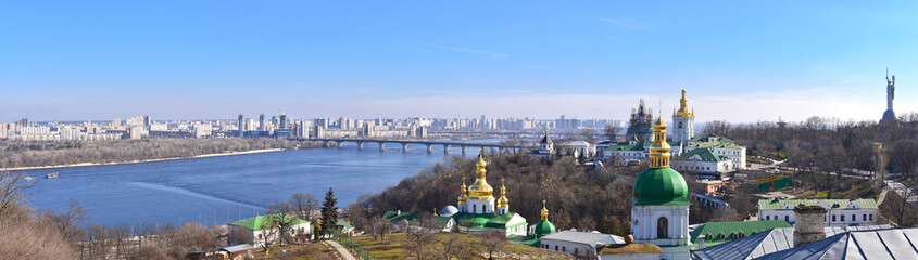 Panoramic view of Kyiv from Kyiv Pechersk Lavra