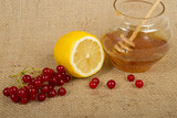Traditional medicine. Honey, lemon, cranberry.