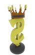 dollar symbol with a crown