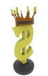 dollar symbol with a crown