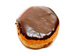 Chocolate Covered Bavarian Cream Dounut