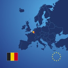 Belgium map cover vector