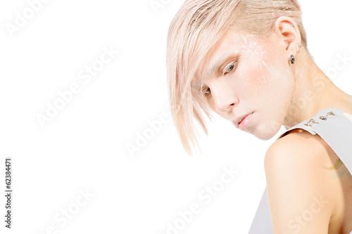 white make-up