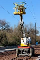 Nacelle élévatrice ' rail-route '