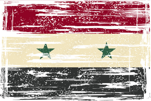 Syria grunge flag. Vector illustration