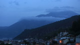 time lapse mountain and clouds with famous town Fethiye