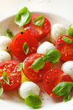 Caprese salad; mini mozzarella, cherry tomatoes and basil