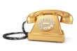 Gold old-fashioned phone