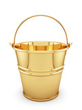 Golden bucket isolated