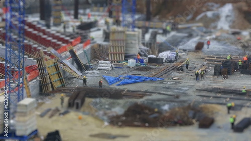 tilt shift time lapse construction zone (miniature effect)
