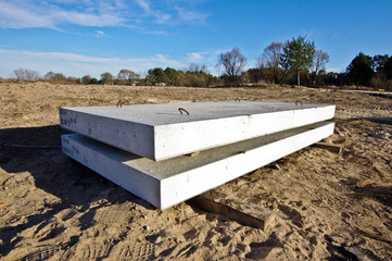 Concrete blocks begining of constructions idea