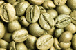 Close-up of green coffee beans