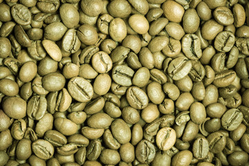 Green coffee beans texture
