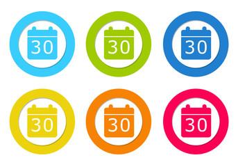 Set of icons with calendar symbol