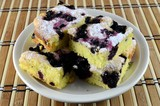 Blueberry yeast pie