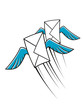 Airmail postage icon